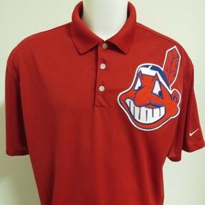 S-3XL Cleveland Indians Nike Dri-Fit Mens 42V Polo